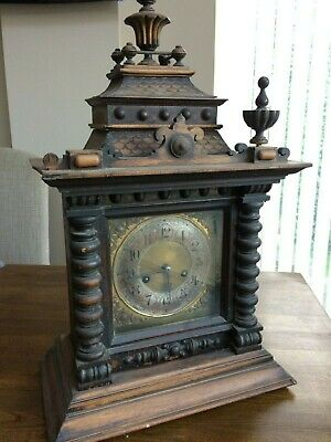 H.A.C. 14 DAY STRIKE clock. Very attractive in need of restoration.
