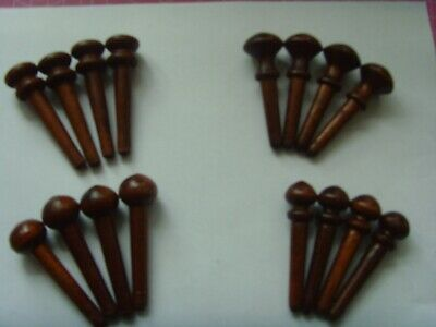 4 Sets of 4 replacement mahogany fusee  drop dial clock case pegs (see photo)