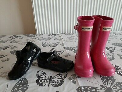 Girls Shoes Bundle Size 7Uk Hunter,Clarks Lights.