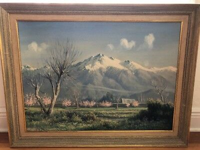 F. Vial (Chilean, late 19th/early 20th century) Chilean Landscape oil painting #