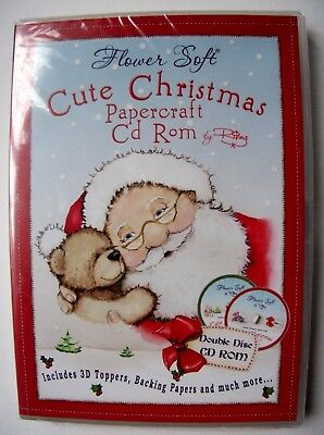 Flower Soft - Cute Christmas Papercraft Double Disc Cd-Rom - New & Sealed