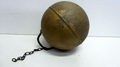 Vintage Metal Float Fishing Buoy On Chain