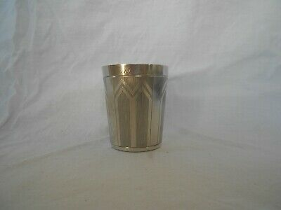Sterling Silver French Wine Cup Beaker Cup Timbale Art Deco