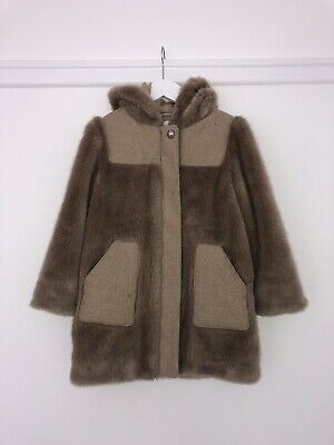 GIRLS CHLOE FUR WOOL COAT AGE  5 YEARS Excellent Condition RRP £299 Romany