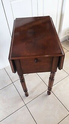 antique sewing table mahogany veneer late victorian early edwardian