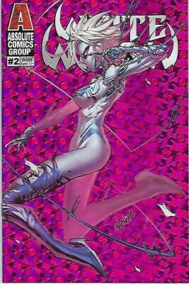 White Widow # 2 Jonboy Meyers Holographic Pink Foil Variant Cover Edition !!  Nm