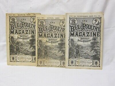 Vintage Bee Keepers & Poultry Magazines 1883