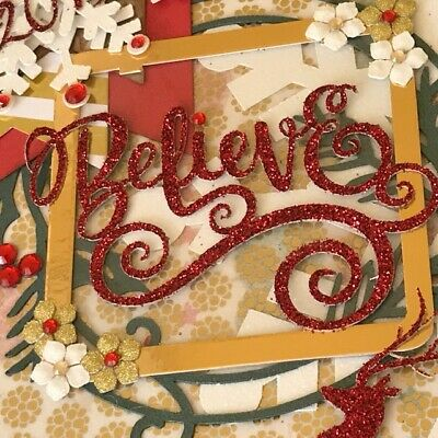 *Believe* Christmas Scrapbook Mini Album December Daily