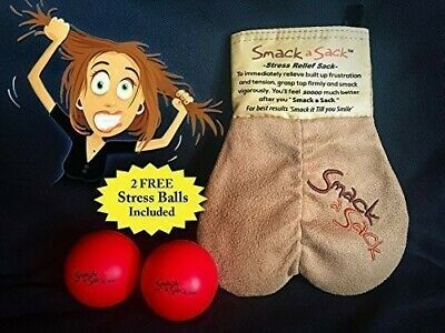 MySack Smack a Sack, Stress Relief Sack w/2 Red Stress Balls