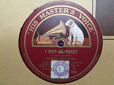 """EUGENE STRATTON - I May Be Crazy / Lily Of Laguna 12"""" 78 rpm disc (A+)"""