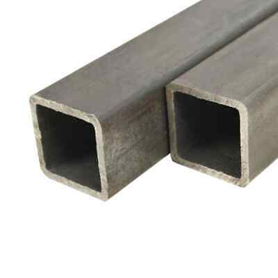 vidaXL Tube carré Acier de construction 6 pcs 1 m 20x20x2 mm