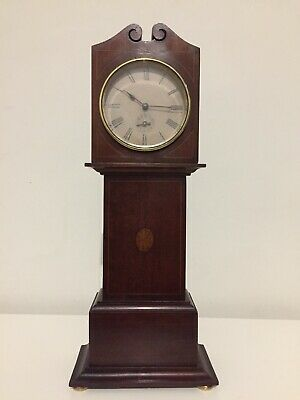 Antique Rare Miniature Grandfather Clock With Alarm Movement. C1900