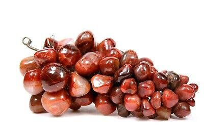 Vintage Agate Polished Bunch of Grapes Fruit