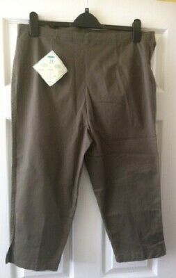 Brand New Maternity Mothercare Khaki Cropped Stretch Trousers Size 10 Rrp £22