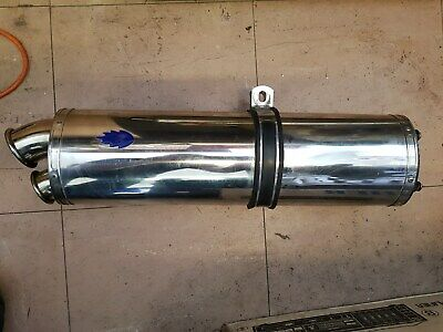 Blue Flame Motorcycle Oval Exhaust can for Suzuki GSXR