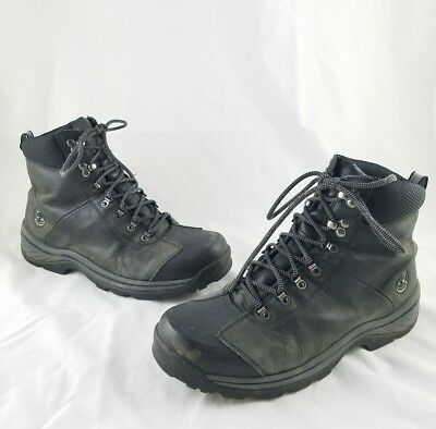 Timberland White Ledge Waterproof Insulated Black Leather Boots Men's 12M C11