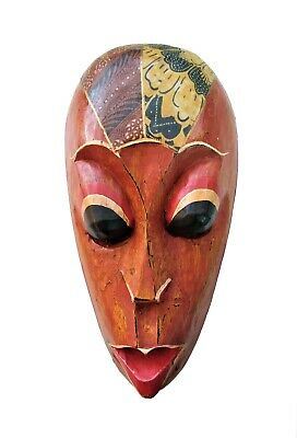 African Tribal Style Wooden Face Mask – Hand Crafted Wall Decor Fast Shipping!!!