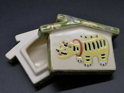 Japanese Tea Ceremony / Kogo (Incense Container) / Tiger / Artisan Work