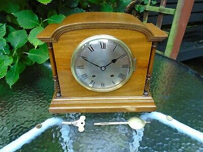 Winterhalder & Hofmeier ?? Beautiful Restored Ting Tang Mahogany Mantle Clock
