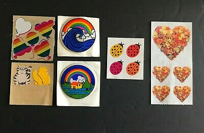 17 Stickers Collection (kitties, ladybugs, ballons, rainbows, hearts of roses)