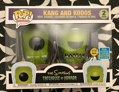 Funko Pop Kang & Kodos 2 Pack The Simpsons SDCC Exclusive 2019 In Hand Sold Out