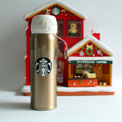 Starbucks Pig year Golden Vacuum cup Stainless steel Family warmth Tumbler 550ML