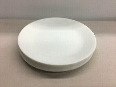 8 Corelle  WINTER FROST WHITE DINNER PLATES 10 1/4""