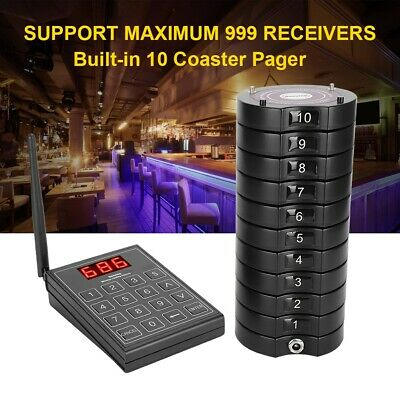 Wireless Restaurant Guest Calling Paging Queuing System 1*Keypad Sender+Pagers