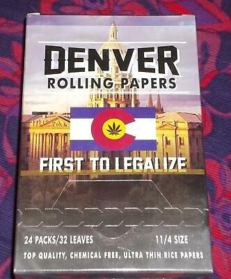 Box Cigarette Rolling Papers, 1 1/4 Size, 24 Packs 768 Sheets Total