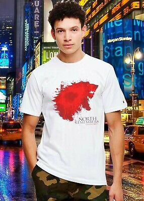 Tshirt 1Game Of Thrones BLOODY STARK THE NORTH REMEMBERS vintage tee
