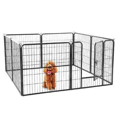 Heavy Duty 8 sided Pet Play Pen Dog Puppy Cage Crate Training Run Metal