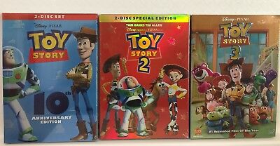 Toy Story 1, 2, & 3 Trilogy 3-DVD Combo (Free USPS Shipping)