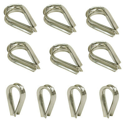 "10 PC 5/16"" Stainless Steel Thimble Light Duty Rope Wire SS 316 Type Grade"
