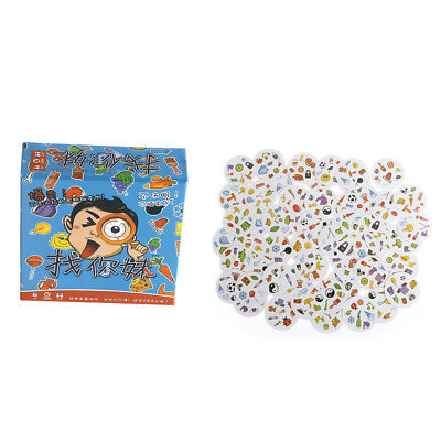 1Set Spot It Find It Board Game Cards Portable Fast-Paced Observation Toy  OQF