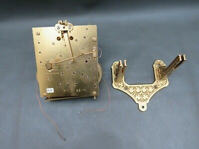 Vintage Kieninger wall clock movement 81 P 65 cm & bracket for spares or repair