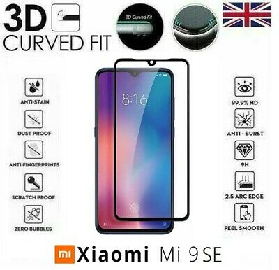 For Xiaomi Mi 9 SE Full 3D Tempered Glass 9H Screen Protector Cover Black Edge