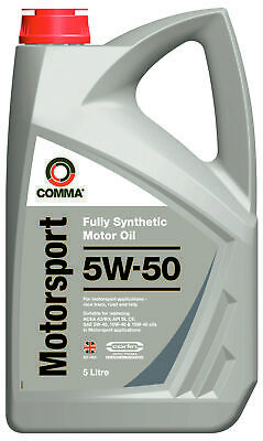 Comma MS5L 5W50 Fully Synthetic Motorsport High Performance Motor Engine Oil 5L