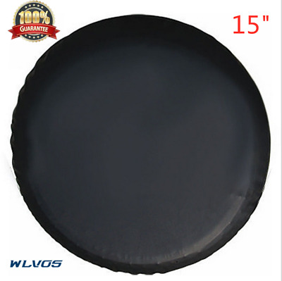 "15""trailer Spare tire tyre Wheel Cover Pure black Heavy Duty Vinyl Material W21"