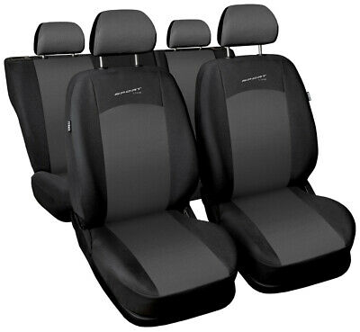 Seat covers fit MITSUBISHI L200 FULL SET black/grey sport line