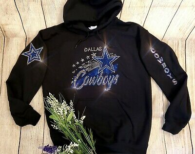 New Women's Dallas Cowboys Hoodie Sweatshirt size Extra Large Rhinestones Bling