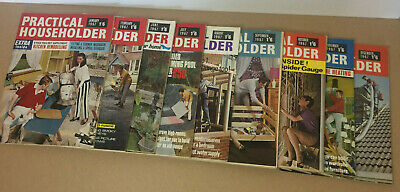 Vintage Job Lot of 9 1967 Practical Householeder Magazines Adverts Inside