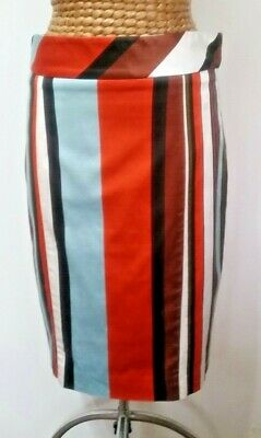 Cue Multi coloured stripe pencil Skirt  GC Size 12