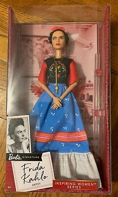 NEW Frida Kahlo Mattel Barbie Doll Inspiring Women Series Mexican Artist IN HAND