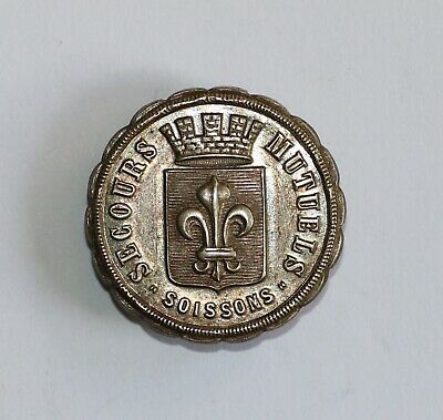 France. Medal Button Xx Century. Soissons. Mutual Rescue.