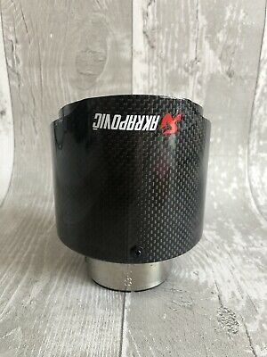 "57-101mm AKRAPOVIC 4"" GLOSS CARBON UNIVERSAL CAR EXHAUST TIP Audi A3 BMW GOLF VW"