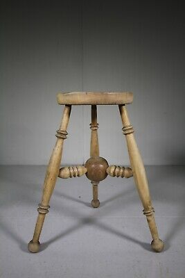 Unusual English 1950's Oak Stool