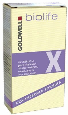 Goldwell Biolife X For Difficult To Perm Virgin Hair New Free P&P