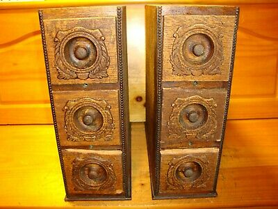 Antique  Singer Sewing Machine  6 Drawers & Racks ,Tiger Oak ,Ornate