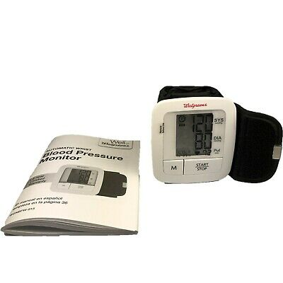 Homedics Blood Pressure Monitor from Walgreens with Automatic Wrist Reading