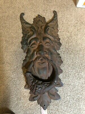 Extremely Large Old Man Winter Door Knocker APPROX 19.75 Long by 8 1/4 Wide